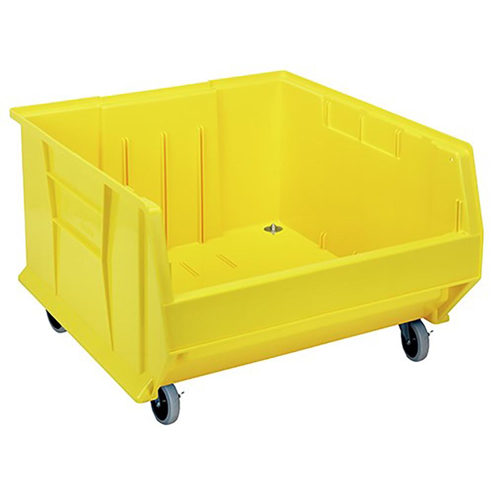"Yellow Quantum® HULK Mobile Bin - 23-7/8"" L x 22-1/2"" W x 12"" Hgt."