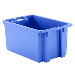 """2 Cu. Ft. Blue Stack & Nest Container - 23"""" L x 15"""" W x 12"""" Hgt."""