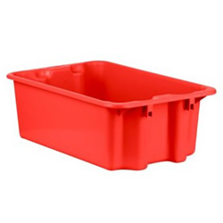 """1.1 Cu. Ft. Red Stack & Nest Container - 23"""" L x 15"""" W x 8"""" Hgt."""