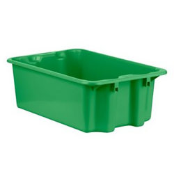 """1.1 Cu. Ft. Green Stack & Nest Container - 23"""" L x 15"""" W x 8"""" Hgt."""