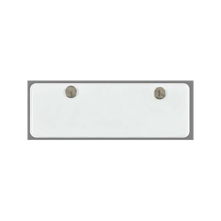 """Clear Vinyl Card Holder with Snaps for 6-1/4"""" x 1-1/4"""" Cards"""