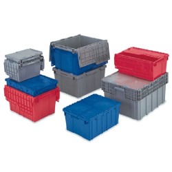Totes with Attached Flip-Top Lids