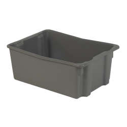 """26"""" L x 18"""" W x 10"""" Hgt. Gray Polylewton ® Stack-N-Nest ® Container"""