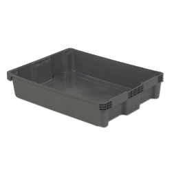 """30"""" L x 22"""" W x 6"""" Hgt. Gray Polylewton ® Stack-N-Nest ® Container"""
