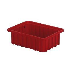 "10-7/8"" L x 8-1/4"" W x 3-1/2"" H Red Divider Box"