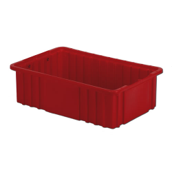 "16-1/2"" L x 10-7/8"" W x 5"" H Red Divider Box"