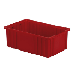 "16-1/2"" L x 10-7/8"" W x 6"" H Red Divider Box"