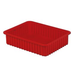"22-5/16"" L x 17-5/16"" W x 5"" H Red Divider Box"