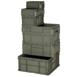 Quantum® Heavy Duty Straight Wall Stacking Containers