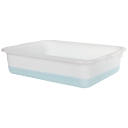 "White Polypropylene Tote Box with Handles - 20-7/8""L x  15-5/8""W x 5-1/8""H"