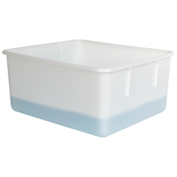 "Natural Polypropylene Tote Box - 15-1/4""L x 13""W x 7-1/8""H"