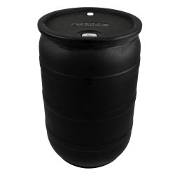 "55 Gallon Black Tamco® Closed Head Drum with 3/4"" & 2"" NPS Bungs"