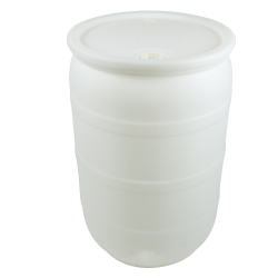 "55 Gallon Natural Tamco® Closed Head Drum with 3/4"" & 2"" NPS Bungs"