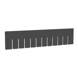 "Akro-Grid Long Dividers for 16-1/2"" L x 10-7/8"" W x 4"" Hgt. Bins"