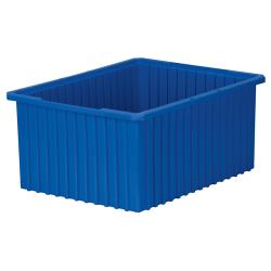 """22-3/8"""" L x 17-3/8"""" W x 10"""" Hgt. Blue Akro-Grid Bin"""