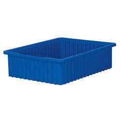 """22-3/8"""" L x 17-3/8"""" W x 6"""" Hgt. Blue Akro-Grid Bin"""