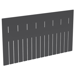 "Akro-Grid Long Dividers for 22-1/2"" L x 17-1/2"" W x 12"" Hgt. Bins"
