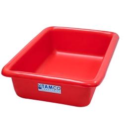 """12-1/8"""" L x 8-1/4"""" W x 3"""" H Red Polyethylene Tamco® Tote Pan"""