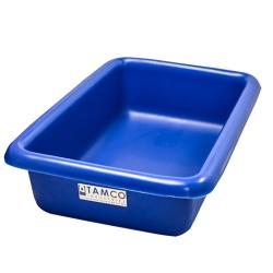 """12-1/8"""" L x 8-1/4"""" W x 3"""" H Blue Polyethylene Tamco® Tote Pan"""