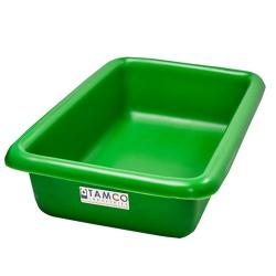 """12-1/8"""" L x 8-1/4"""" W x 3"""" H Green Polyethylene Tamco® Tote Pan"""
