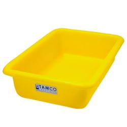 """12-1/8"""" L x 8-1/4"""" W x 3"""" H Yellow Polyethylene Tamco® Tote Pan"""