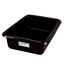 """12-1/8"""" L x 8-1/4"""" W x 3"""" H Black Polyethylene Tamco® Tote Pan"""