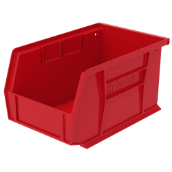 "9-1/4"" L x 6"" W x 5"" Hgt. OD Red Storage Bin"