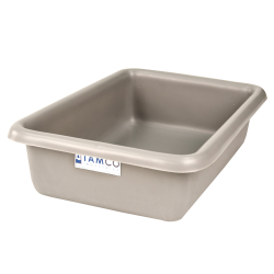 "12-1/8"" L x 8-1/4"" W x 3"" H Light Gray Polyethylene Tamco® Tote Pan"