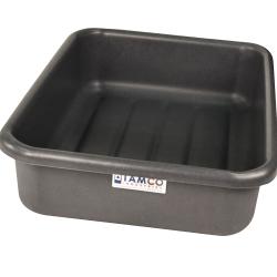 """20-3/4"""" L x 15-1/2"""" W x 5-1/4"""" H Slate Gray Polyethylene Tamco® Tote Pan"""