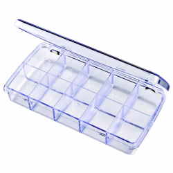 "Diamondback Box with 10 Compartments - 7"" L x 3-3/8"" W x 1-1/8"" H"