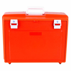 Orange & White 5-Drawer Medical Cabinet - 19-1/2