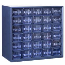 "30 Drawer Parts Station Storage Cabinet - 12"" L x 6-1/4"" W x 11  1/4"" H"