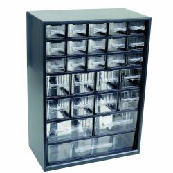 "26 Drawer Parts Station Storage Cabinet - 12"" L x 6-1/4"" W x 16-1/2"" H"