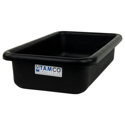 """18"""" L x 10"""" W x 4"""" H Black Polyethylene Tamco® Tote Pan"""