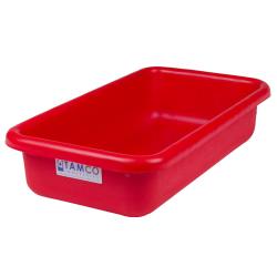 """18"""" L x 10"""" W x 4"""" H Red Polyethylene Tamco® Tote Pan"""