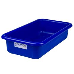 """18"""" L x 10"""" W x 4"""" Hgt. Blue Polyethylene Tamco® Tote Pan"""