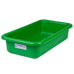 """18"""" L x 10"""" W x 4"""" H Green Polyethylene Tamco® Tote Pan"""