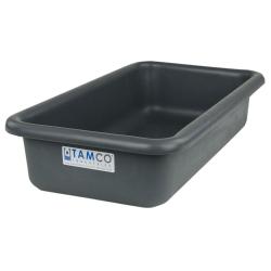 """18"""" L x 10"""" W x 4"""" H Slate Gray Polyethylene Tamco® Tote Pan"""