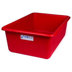 """24"""" L x 16"""" W x 8"""" H Red Polyethylene Tamco® Tote Pan"""