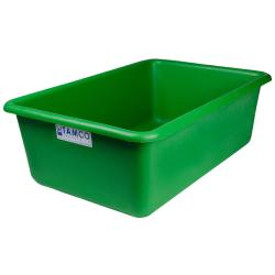 """24"""" L x 16"""" W x 8"""" H Green Polyethylene Tamco® Tote Pan"""