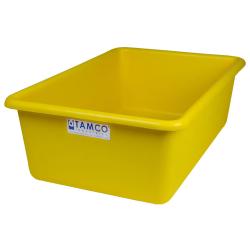 """24"""" L x 16"""" W x 8"""" H Yellow Polyethylene Tamco® Tote Pan"""