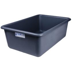 """24"""" L x 16"""" W x 8"""" H Slate Gray Polyethylene Tamco® Tote Pan"""