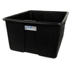 "24"" L x 20"" W x 12"" H Black Polyethylene Tamco® Jumbo Tote Pan"