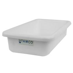 """12-1/8"""" L x 8-1/4"""" W x 3"""" H White Polyethylene Tamco® Tote Pan"""