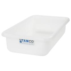 """18"""" L x 10"""" W x 4"""" H Natural Polyethylene Tamco® Tote Pan"""