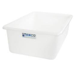 """24"""" L x 16"""" W x 8"""" H Natural Polyethylene Tamco® Tote Pan"""