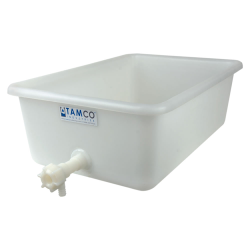 "24"" x 16"" x 8"" Tamco® Tray with Flow Spigot"