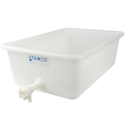 "18"" x 10"" x 4"" Tamco® Tray with Flow Spigot"