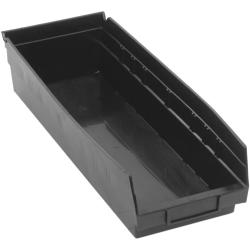 "Black Quantum® Economy Shelf Bin - 17-7/8"" L x 6-5/8"" W x 4"" Hgt."