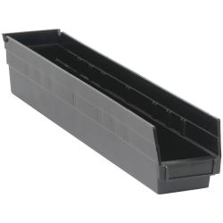"Black Quantum® Economy Shelf Bin - 23-5/8"" L x 4-1/8"" W x 4"" Hgt."